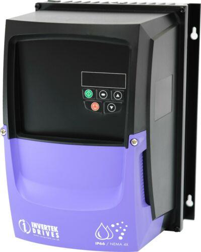 Invertek E2 VFDexchange.com VFD .5HP .37kW 2.3A 200V-240V 3Ph//3Ph IP66