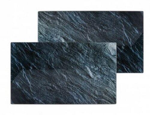 2er Set Herd-Abdeckplatte Schneidebrett Ceranfeld-Abdeckung Herdabdeckung Stone