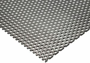 """304 Stainless Steel Perforated Sheet 20 ga. (.035"""") x 12"""" x 12"""" - 1/8"""" Holes"""