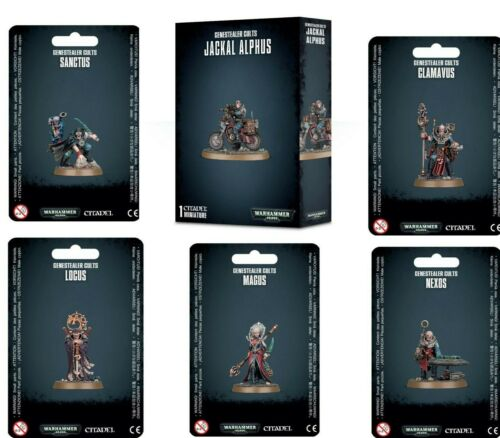Warhammer 40K GENESTEALER CULTS Clamavus Locus Magus Nexos Sanctus Jackal Alphus