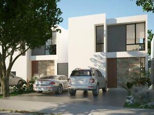 Casa en venta Arbolada Cholul Merida 3 habitaciones ENTREGA INMEDIATA