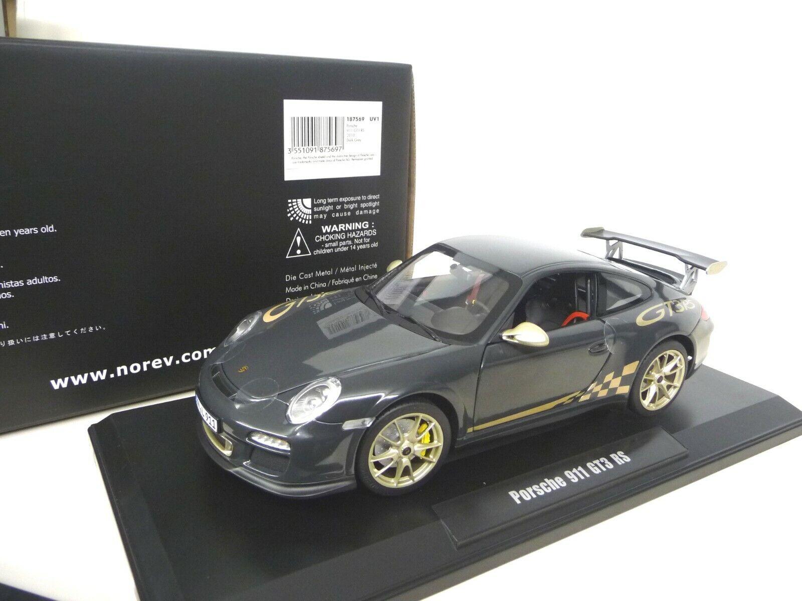 1 18 NOREV PORSCHE 911 997 GT3 RS Grau   Gold NEU NEW