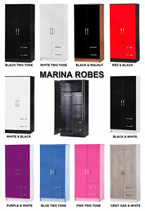 Marina-High-Gloss-Combi-Wardrobe-2-Door-2-Drawer-Gloss-Bedroom-Furniture
