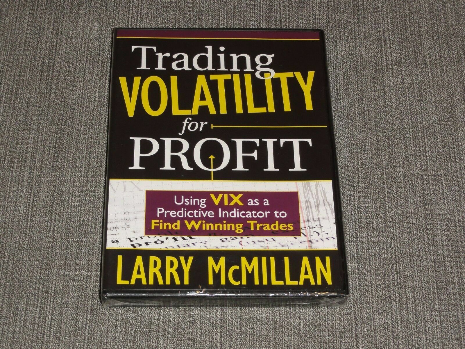 Larry McMillan - Trading Volatility For Profit DVD stocks options academy online 1