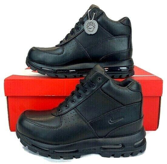 Nike Air Max Goadome ACG Triple Black Hiking Boots 865031-009 Mens Sz 8