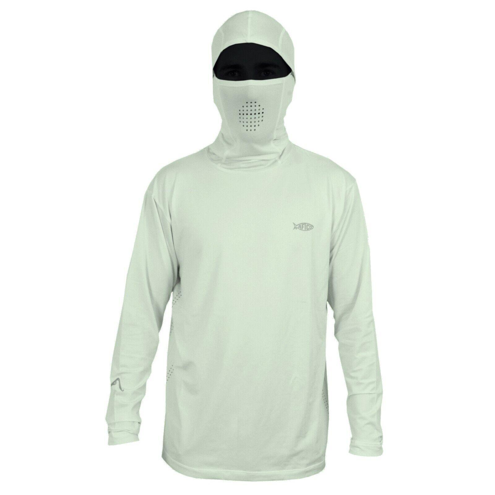 Aftco para hombres Camisa Capucha Ninja de pescado   pesca de Rendimiento Camisa De Projoección Solar-S