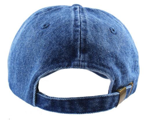 1 of 3FREE Shipping Gelante Plain denim Adjustable Baseball Caps Jean Dad Hats  Wholesale lot 6-12pcs c04326de849