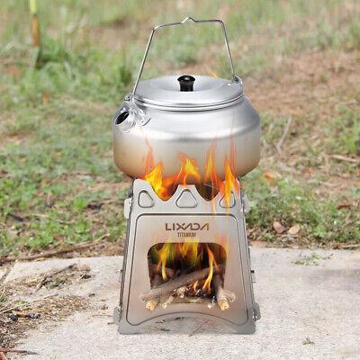 Lixada Falten Campingkocher Titan Taschenofen Notkocher Holzofen mit Tasche M5Q4