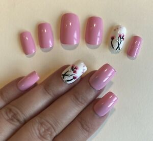 Image Is Loading Hand Painted False Nails Square Or Any Shape
