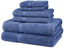 Pinzon Egyptian Cotton 6-Piece Towel Set, Wedgewood, New, Free Shipping