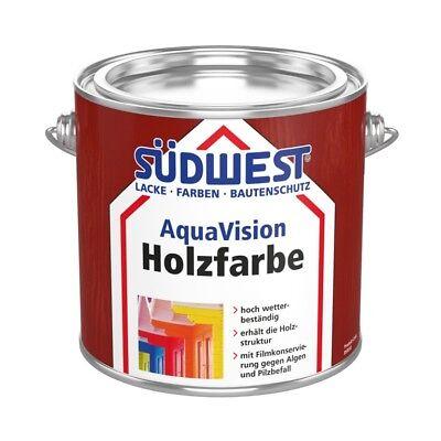 Clever SÜdwest Aquavision Holzfarbe 2,5l Weiß Leichtgängige Ansatzfreie Verarbeitung üBerlegene Leistung