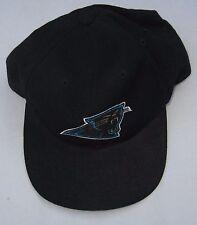 NWT ADJUSTABLE CAROLINA PANTHERS BLACK CAP PANTHER LOGO BY AMERICAN NEEDLE