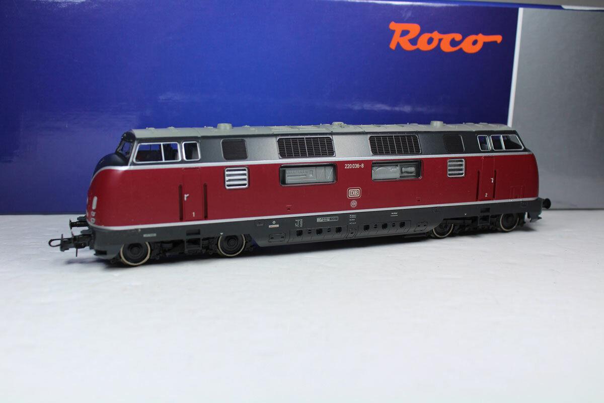ROCO 52680 DIESEL BR 220 220 220 036-8 DB EPOCA IV analogico, nuovi. b9b220