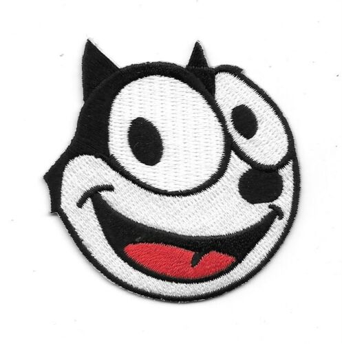 Felix the Cat Cartoon Smiling Face Animated Art Embroidered Patch NEW UNUSED