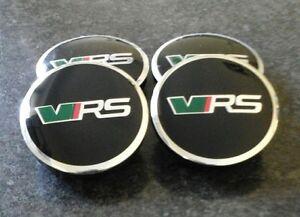 4pc ALLOY WHEEL CENTRE CAPS BLACK 56mm SET FOR SKODA FABIA VRS RS OCTAVIA VRS RS