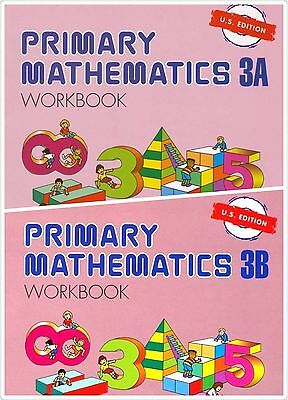 Primary Mathematics (2) Workbooks 3A and 3B US Edition - FREE Expedited SHIPPING