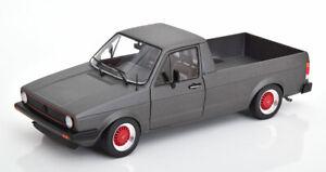 VOLKSWAGEN-Caddy-Pick-Up-MATT-GREY-Modellino-in-scala-1-18-buon-dettaglio-classico-Diecast