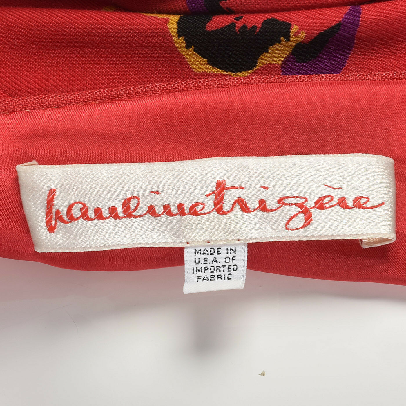 S 1980s Pauline Trigere Long Sleeve Red Dress Dro… - image 10