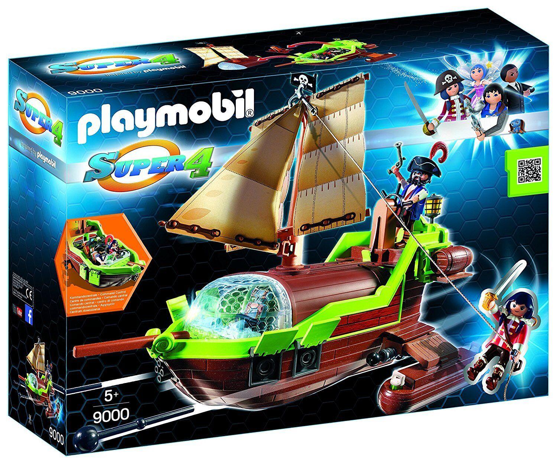 Playmobil Super 4- 9000- Barco Pirata Camaleón con Ruby
