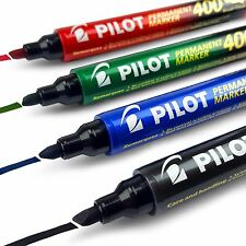 Pilot SCA-400 Chisel Tip Permanent Marker Pen - 1.5mm-4.0mm Line - Assorted x 4