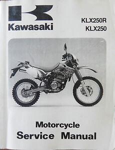 genuine kawasaki klx250r klx250 93 96 klx 250 service manual ebay rh ebay com kawasaki klx 250 service manual pdf kawasaki klx 250 owners manual