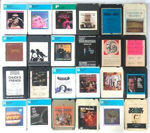 24-Piece 8-Track Tape Lot: Pop, Rock, Country, Disco, Classical, Jazz, Big Band