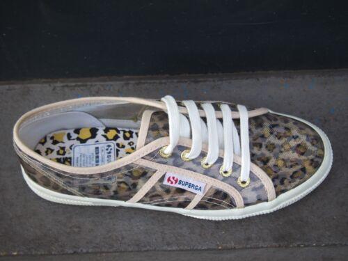 Superga Damenschuhe 2750 Animal Sneakers Leopard Gold Canvas Schuh NEU SALE