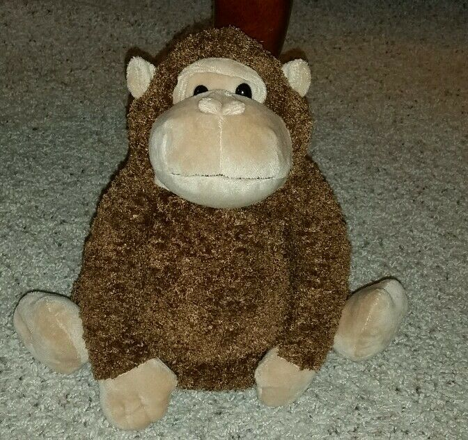 Rare Old Navy 9  plush Marrone monkey gorilla sitting HTF 2006  DD2