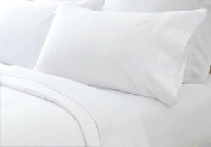 Image Is Loading 400tc Egyptian Cotton Sheet Set Percale White