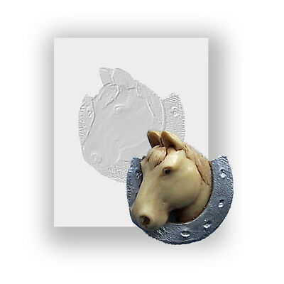 Silicone Mould - Horse Head - Flat Backed Mini Sculpture - Food Safe