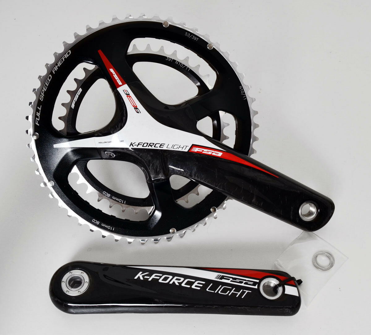 FSA KFORCE LIGHT autoBON CRANK SET CRANKSET 170 5339 11SPEED 386 EVO BB386 rosso