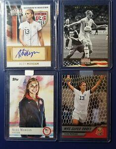 ALEX MORGAN AUTOGRAPH 2012 Panini Americana Heroes & Legends USA Soccer LOT OF 4