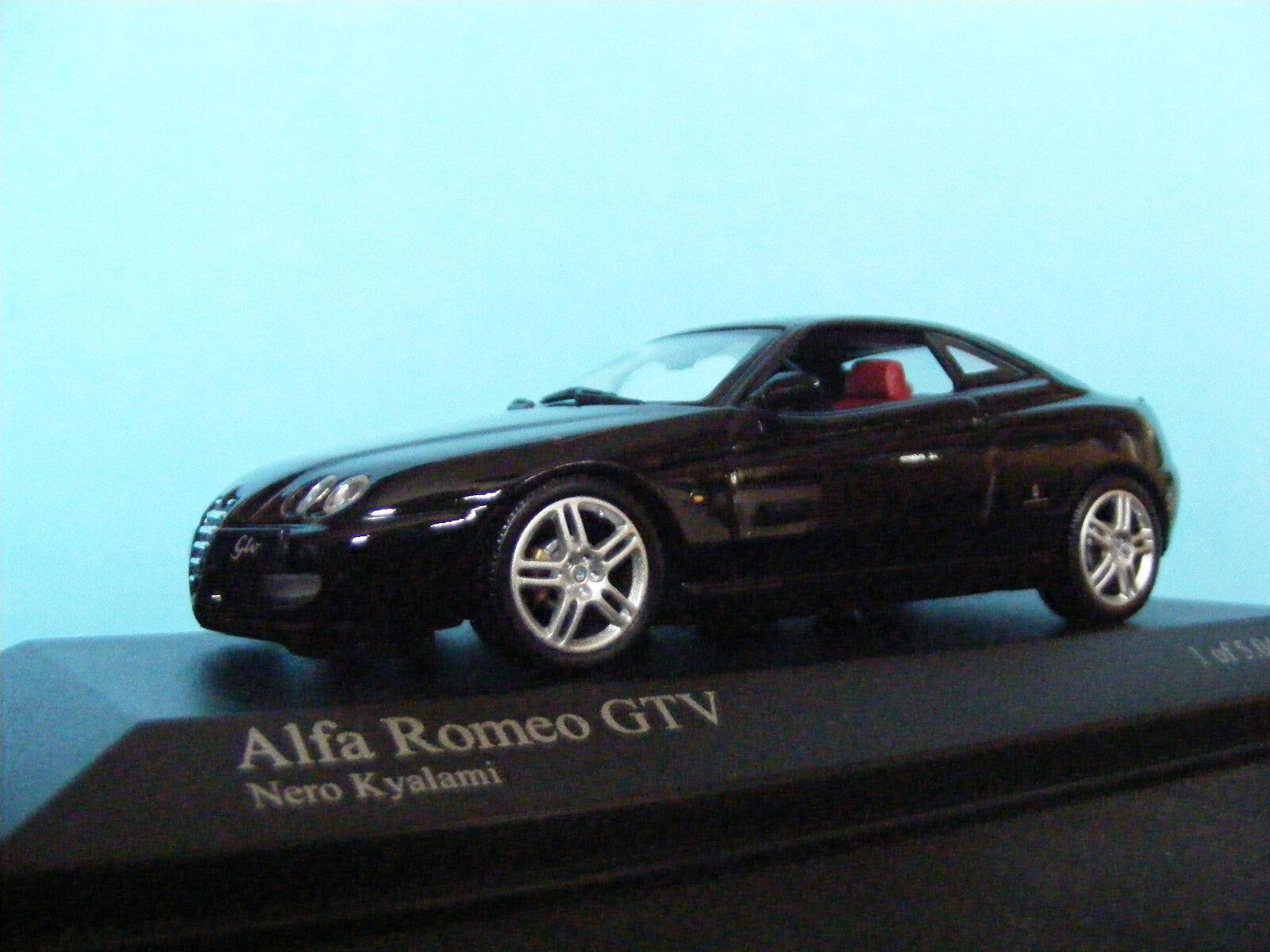 Alfa Romeo GTV In black Kyalami with red interior Minichamps   1 43 NLA
