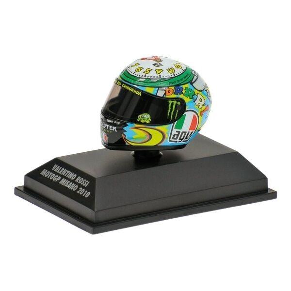 1 8 AGV Minichamps Valentino Rossi Helmet Casco Moto GP Misano 2010 RARE NEW