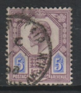 Great-Britain-GB-1902-5d-Purple-amp-Blue-stamp-Used-SG-294