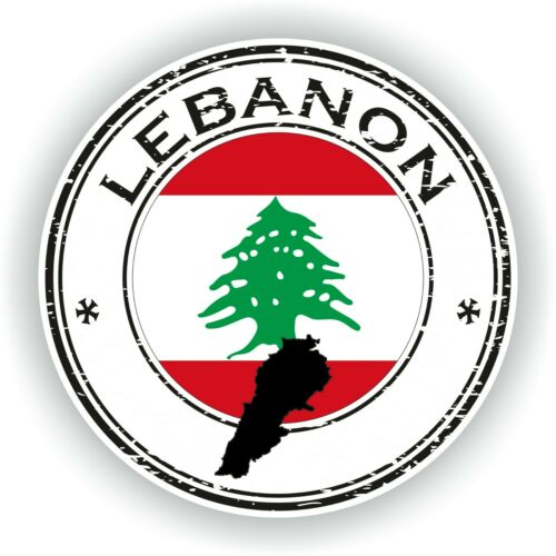 Sticker of Lebanon Stamp for Bumper Travel Laptop Tablet Suitcase Hollidays