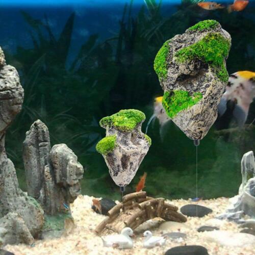Floating Rock Suspended Stone Aquarium Fish Tank Underwater-Decor Landscaping.