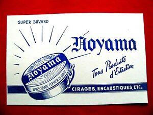 Ancien-Buvard-Noyama-Cirages-Encaustiques-bleu