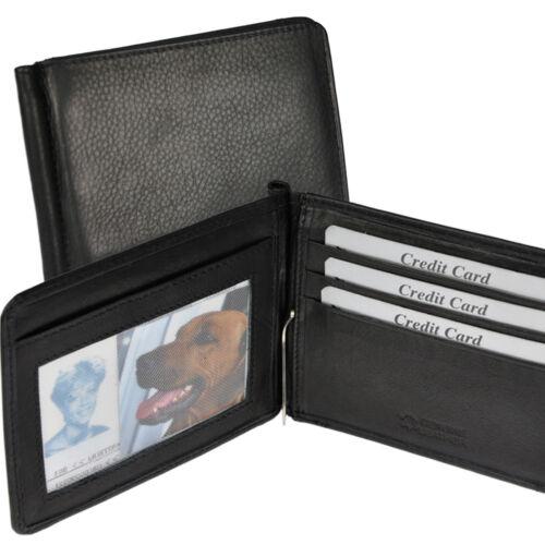 Dollarclip mit RFID-Schutz Geldbörse Geldklammer Portemonnaie feinstes Rindleder