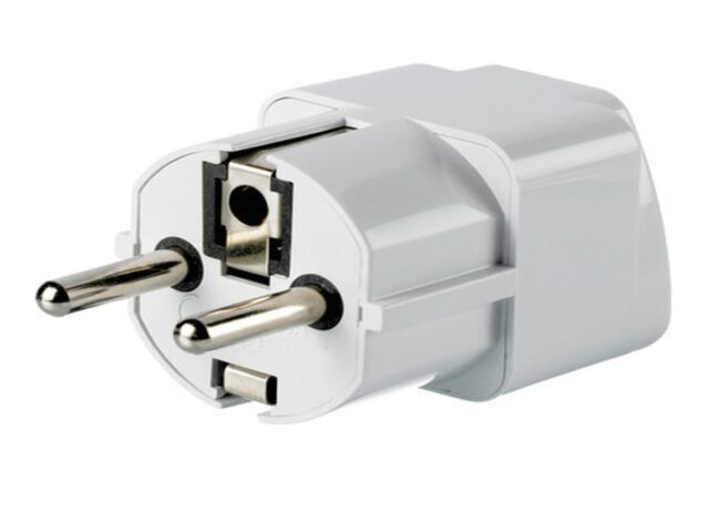 3pk Grounded Universal Plug Adapter For Germany France