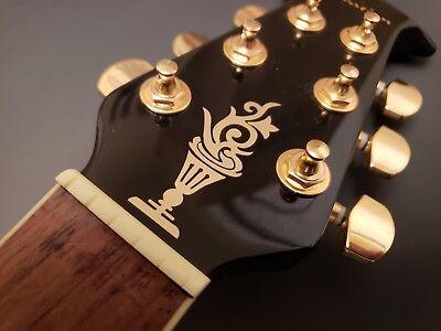 Guitar Headstock decals Set