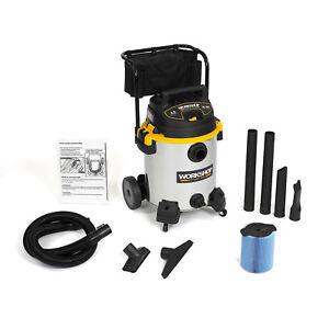 WORKSHOP-Wet-Dry-Vacs-WS1600SS-Stainless-Steel-16-Gallon-6-5-Peak-HP-Shop-Vacuum