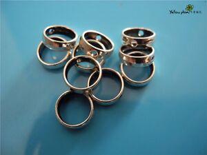 10 PCs Tibetan Carved Silver Metal Beads Set - Dreadlock Beads dread beads A14
