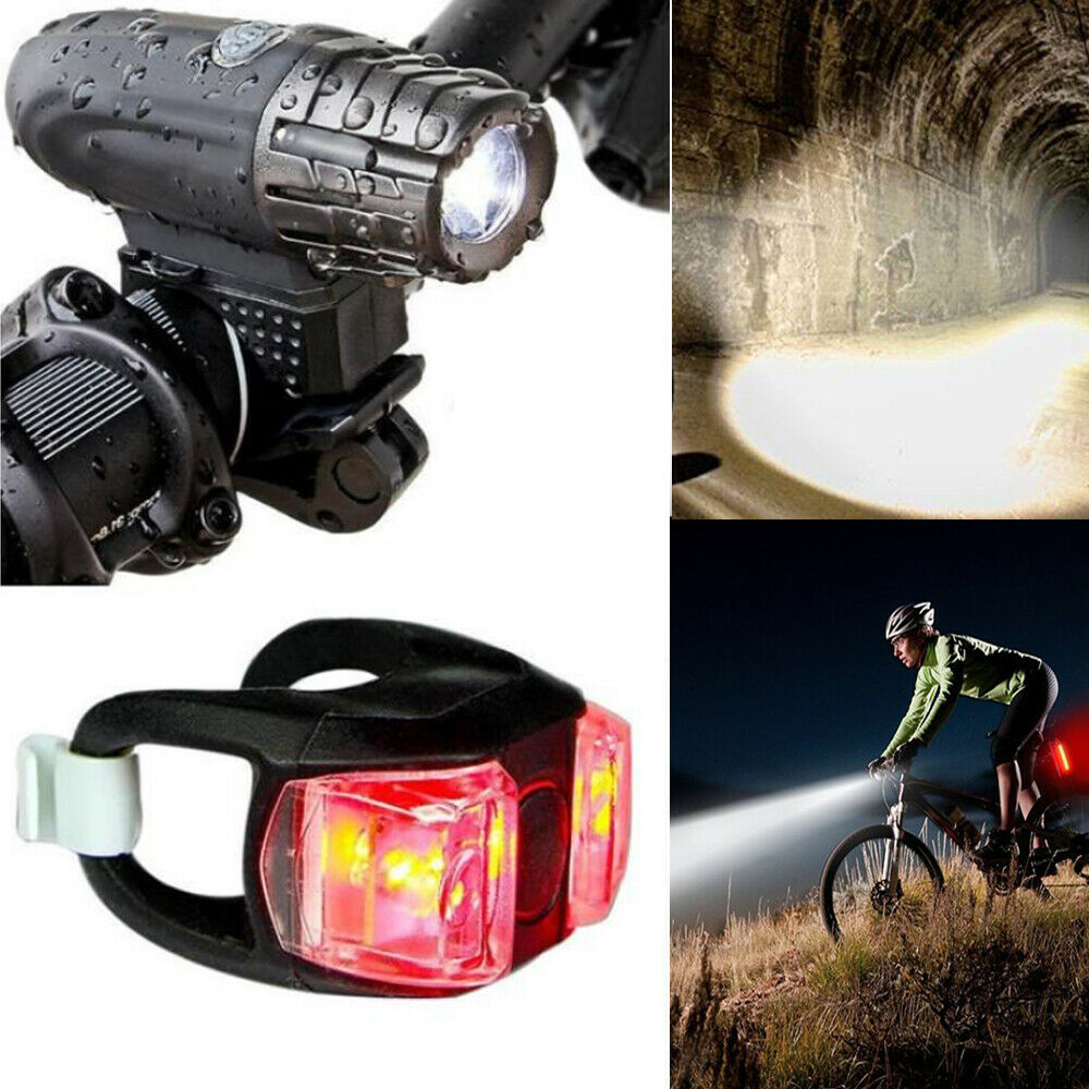 New Bicycle Cycling Head Front Rear Lights MTB Tail Lamp USB Rechargeable Set UK