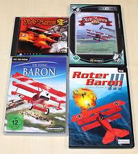 PC SPIELE SAMMLUNG RED ROTER FLYING BARON 2 3 3D FLUGSIMULATOR