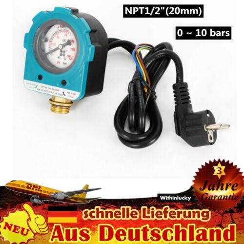 "10 Bar Wasser Pumpensteuerung Druckschalter Wasserpumpe Pumpenschalter NPT1//2/"""
