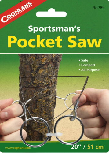 CUTS  WOOD SPORTSMAN/'S POCKET WIRE SAW NO SHARP EDGES METAL PLASTIC OR BONE