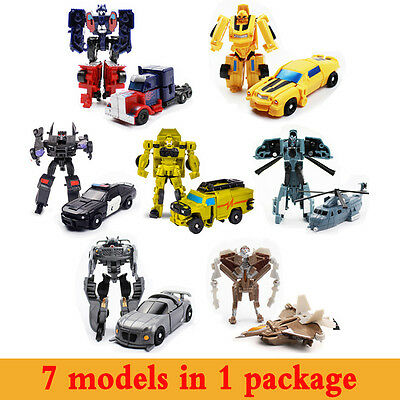 Transformers Lot 7pcs G1 Masterpiece New Toys Figure Optimus Prime Generations
