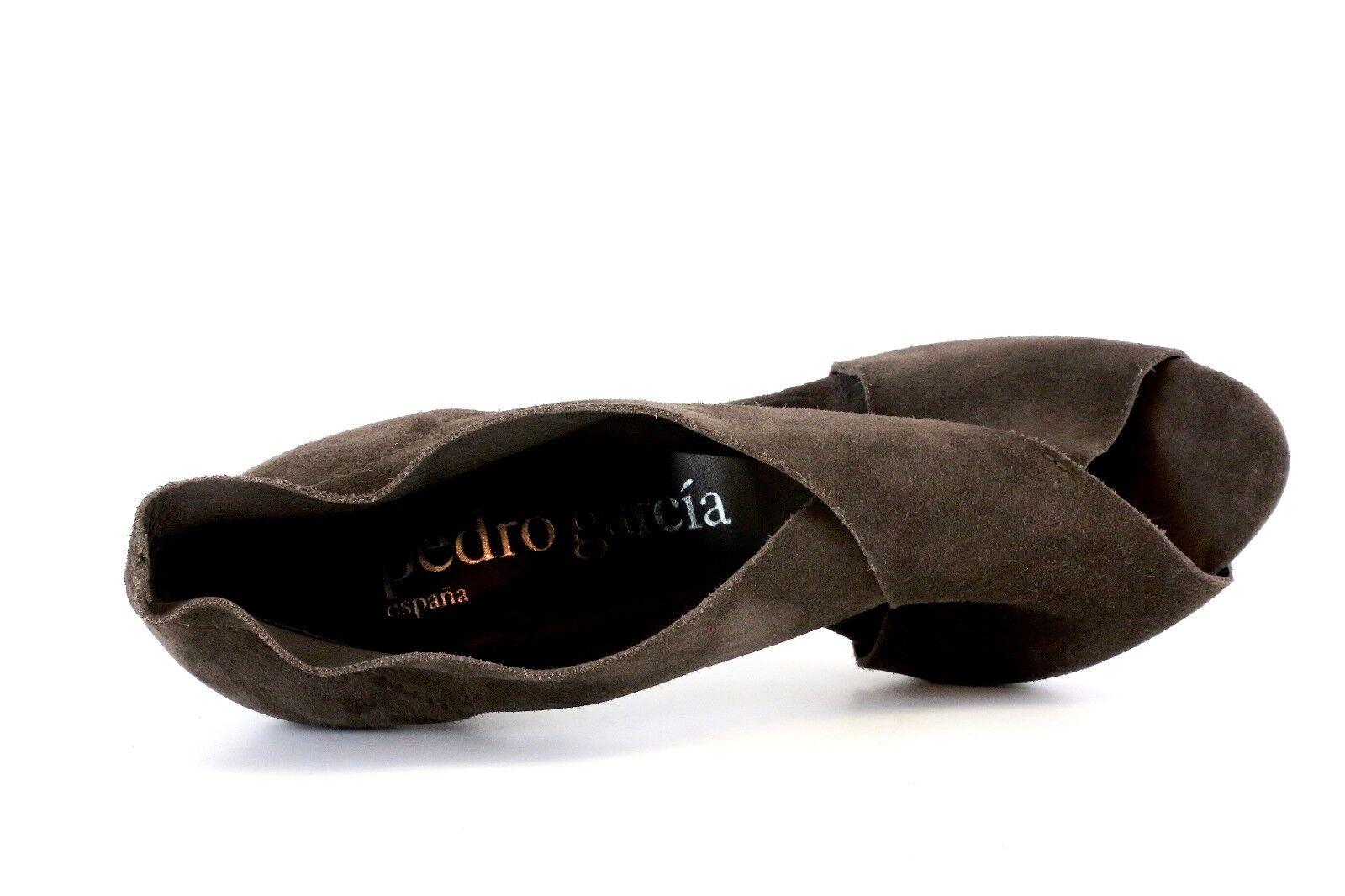 Pedro Garcia Women's Brown Brown Brown Suede Peep Toe Heels 2405 Size 39.5 9b2c7f