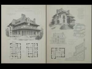 Saint Germain En Laye, 28 Rue Wauthier - Gravures Architecture 1905 - Pean Les Clients D'Abord